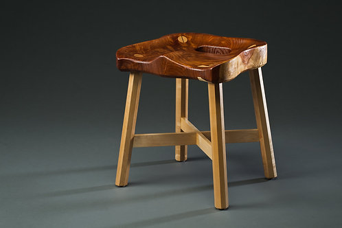 Andy Orsini - Redwood Milk Stool, 14x14x16""