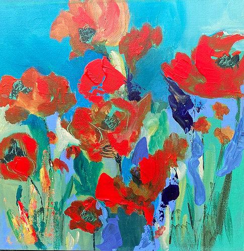 "Jane Ferguson - Spring Poppies, 12x12"""