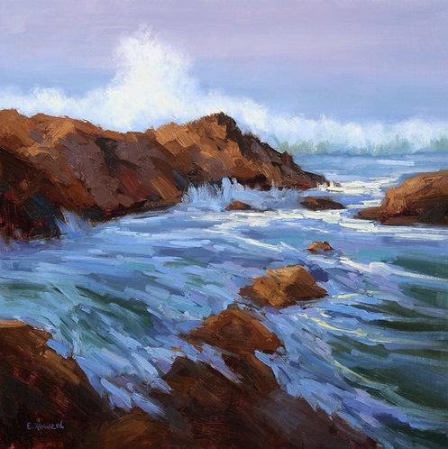 "Ellen Howard - Turbulent Sea, 20x20"""