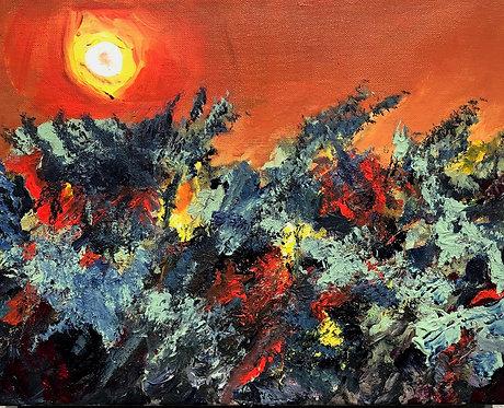"Jim Potterton - Blazing Harvest 11x14"""
