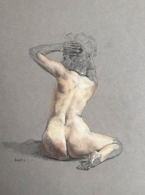 "Susie Wilson - Pastel on Board, Figure III 10x8"""