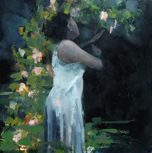 "Reid Winfrey - Jan in the Garden, 30x30"""
