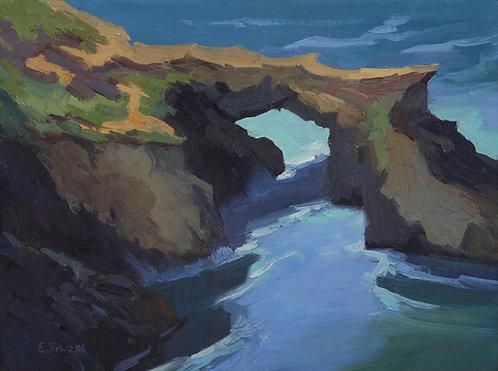 Ellen Howard - Mendocino Arch, 9x12 inches