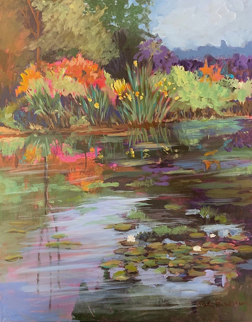 Sally Bookman-  The Lily Pond, 20x16 inches
