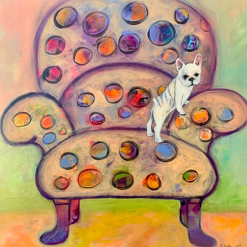 Danielle Dufayet - Saving Your Seat, 30x30""