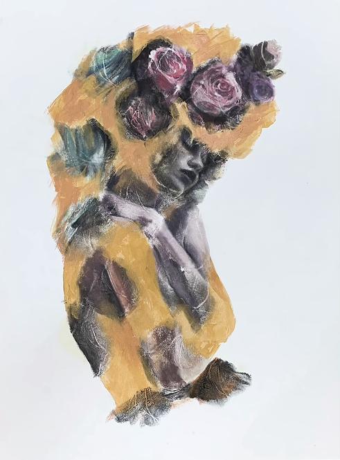 """Russell Powell, Golden Flower, 30 x 22"""""""