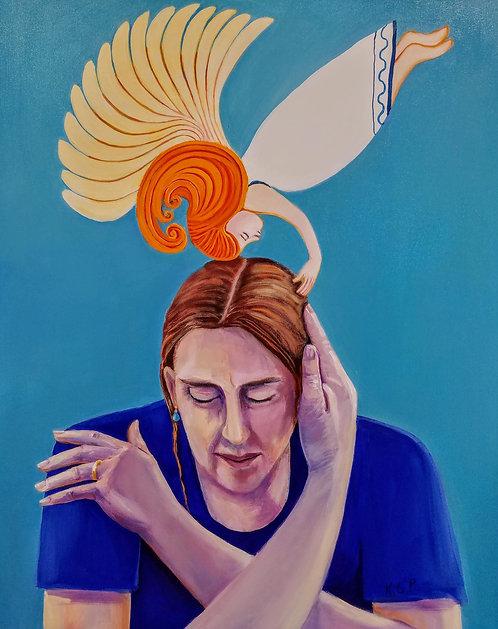 "Karen Potter - Consoling Angel ,30x24"""