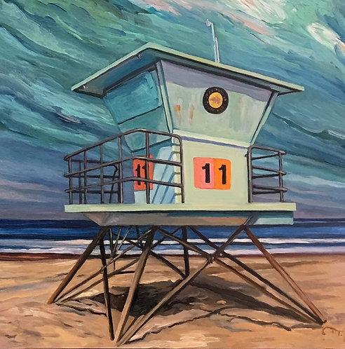 "Marie Cameron - Lifeguard Stand II 6x6"""