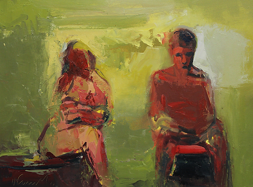 """Ursula O'Farrell - Painter and His Muse, 18x24"""""""