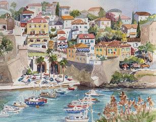 Sally Bookman -  Dubrovnik harbor, Croatia