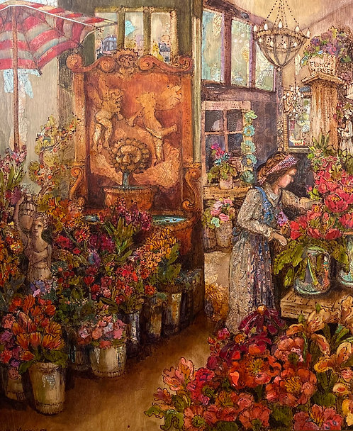 (SOLD) Kendra Morrison The Florist 20 x 24 inches