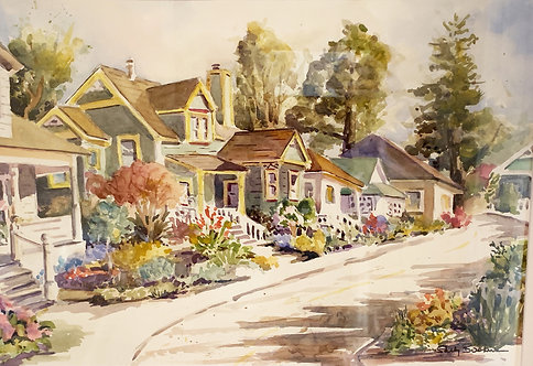 Sally Bookman - Capitola, Depot Hill Cottages 17x23""
