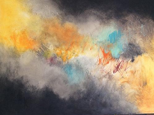 "Beth Shields - Autumn Storm, 36""x48""  $170"