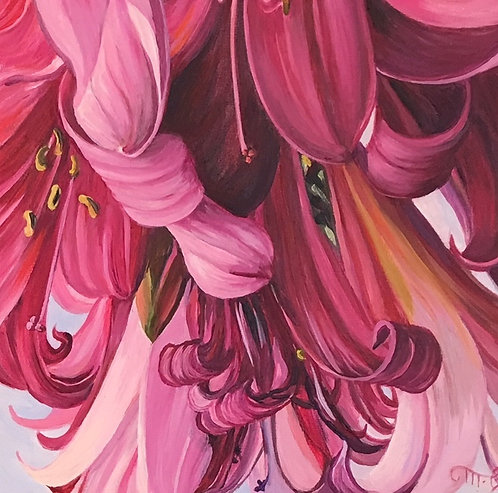 """Marie Cameron - Painted Ladies, 6x6"""""""