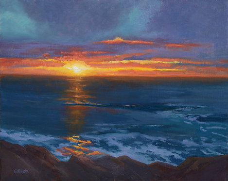 "Ellen Howard - Sunset at the Highland, 16x20"""
