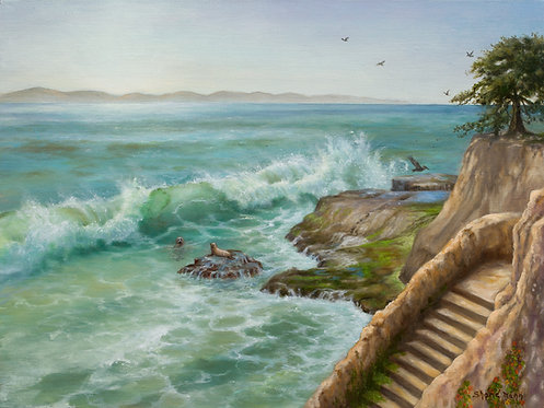 """Janice Mann - Stairway to the Point, 18x24"""""""