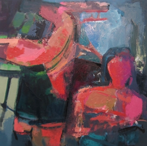 """Ursula O'Farrell - Caught in a Dream, 36x36"""""""