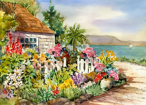 Sally Bookman - Capitola Cottage 22x30""