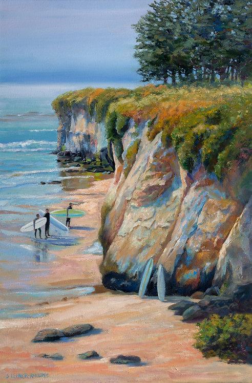 "Shirley Lehner Rhoades - Santa Cruz Surfers, 36x24"""