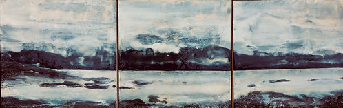"Terry Dowell - Early Morning Light 30x10"" (triptych)"