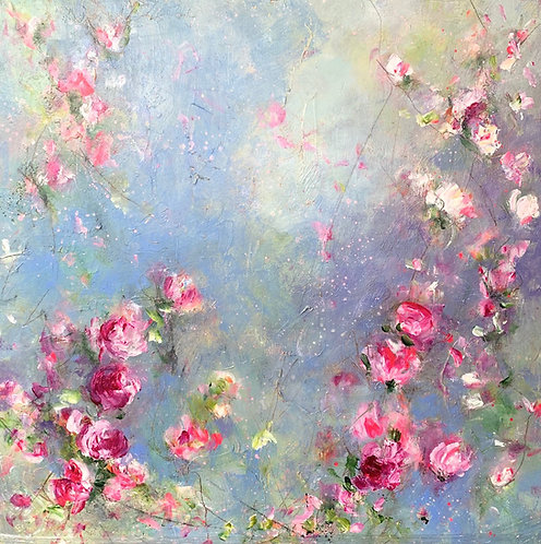 Carrie Clayden - Flower Shower, 36x36""