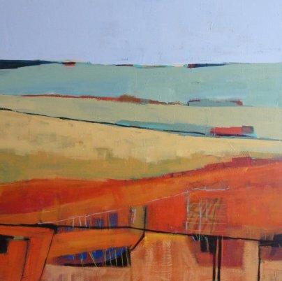 "Gail Ragains - Abstract Land II 48x48"""