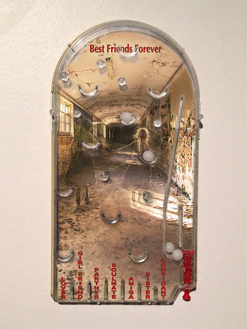 (SOLD)  Rose Sellery - Pinball Photomontage, Best Friends