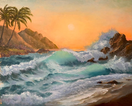 Janice Mann - Hawaiian Evening in Paradise, 16x20