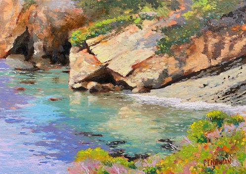 "Ed Penniman - Whalers Cove, Monterey, CA,  12x16"""