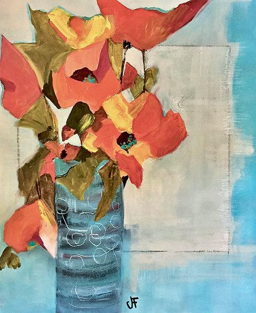 "Jane Ferguson - Blue Vase 24x20"""