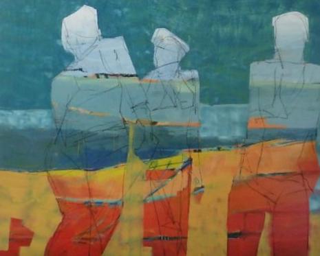 """Gail Ragains - Abstract Trio, 48x60"""""""