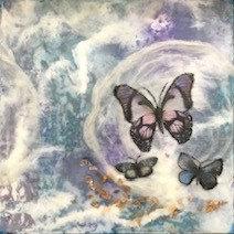 "Carol Heenan - Inside a Butterly's Dream, 8x8"""
