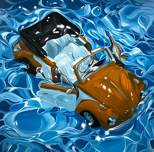 "Benjamin Anderson - Water Beetle 48x48"""