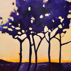 Danielle Dufayet - Purple Grove 36x36 1,