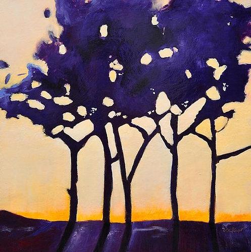 "Danielle Dufayet - Purple Grove, 36x36"""