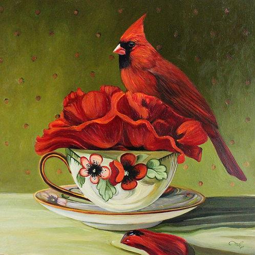 """Marie Cameron - Poppy Tea I 12x12"""""""