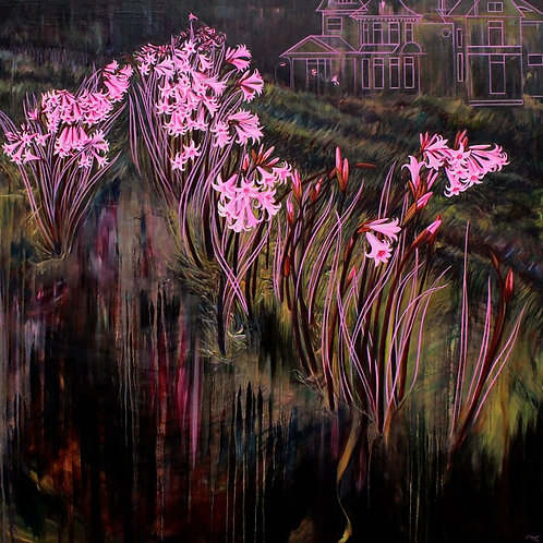 """Marie Cameron - Pink Traces 36x36"""""""