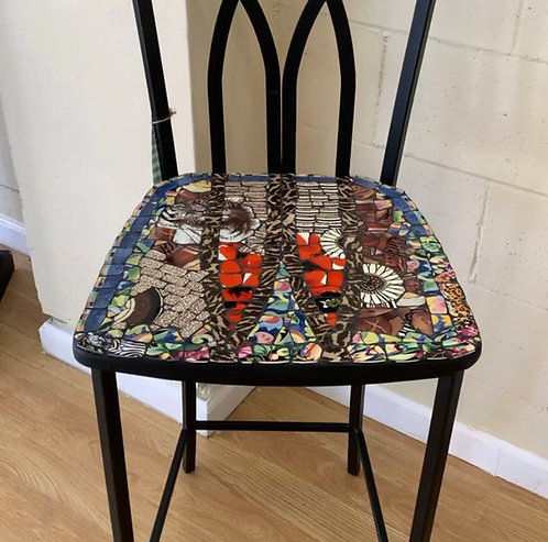 "Robin Russell - Black Chair, 43"""