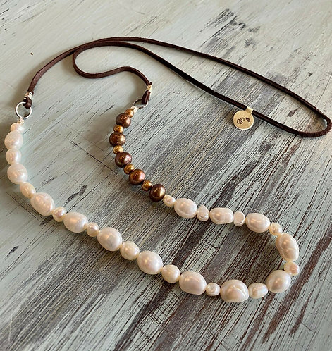 Coffee with Cream Pearl Necklace