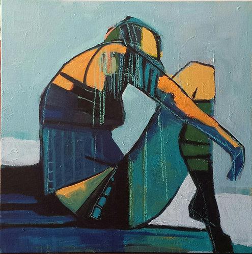"Gail Ragains - Swimmers Meditation #1 30x30"""
