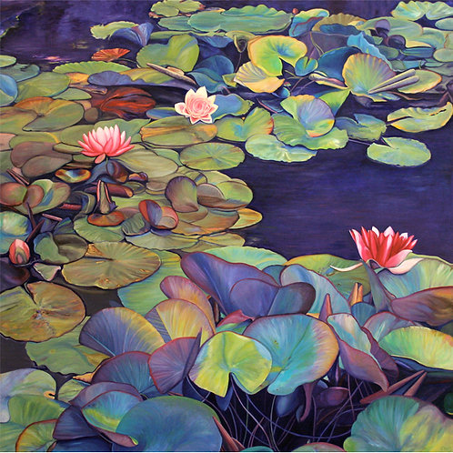 """Marie Cameron - Pond Lily Path, 40x40"""""""