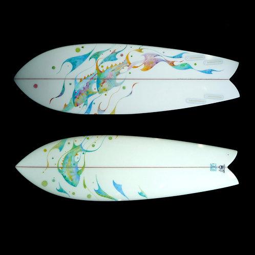 Ea Eckerman - Fish on Fish Surfboard