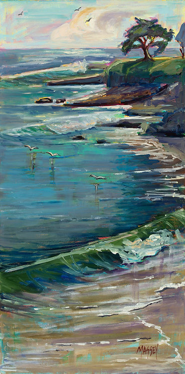 "Marie Massey - Pacific Cypress 24x12"""