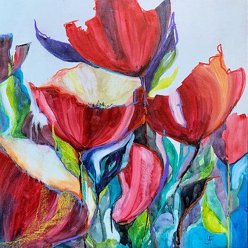 """Jane Ferguson - Floral Fandango 18x18"""""""