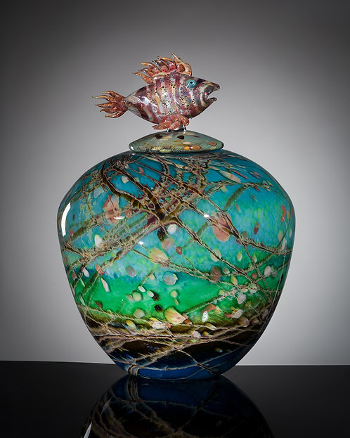 Chris Johnson - Lion Fish Vessel, 16.5x12x12""