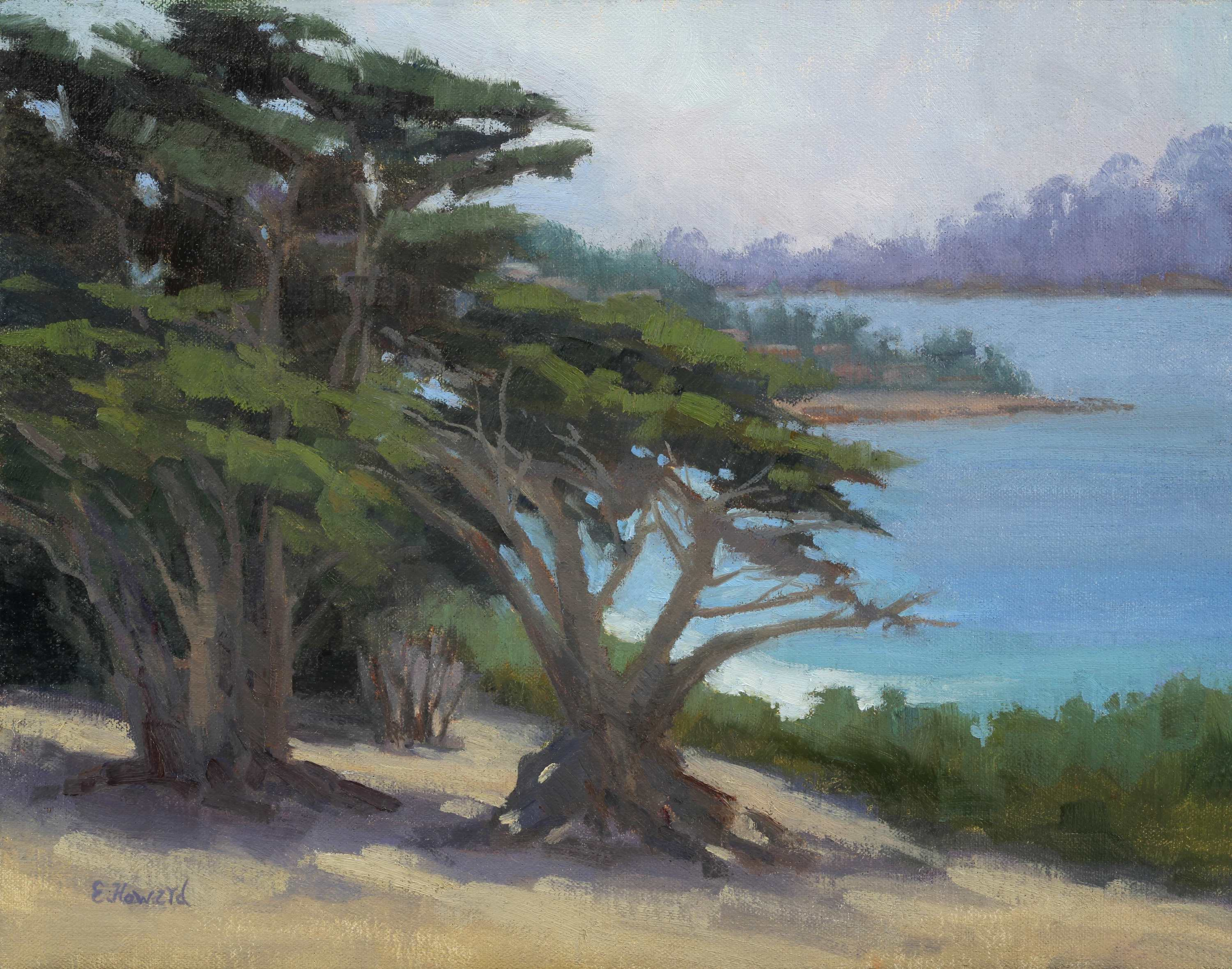 Ellen Howard Coastal Cypress 11x14 $975.