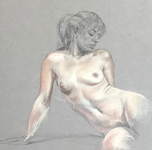 Susie Wilson - Pastel on Board, Figure I 10x8""
