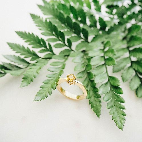 Gelbgold Ring mit Brillant