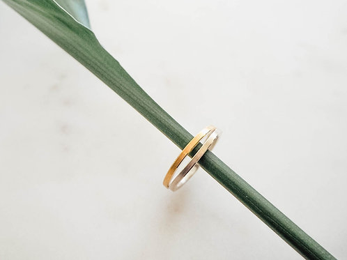 Silber Ring mit Goldauflage