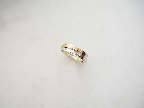 Wickelring Silber mit Goldauflage